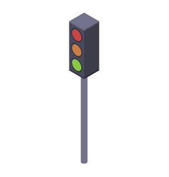 people traffic lights icon isometric style vector image