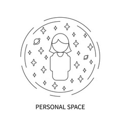 Personal space concept vector