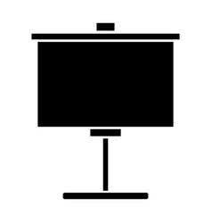 Portable whiteboard symbol vector