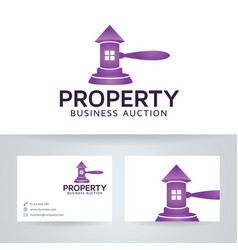 Property auction logo design vector