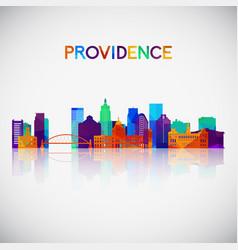 providence skyline silhouette vector image