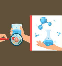 Pure and dirty water color vector
