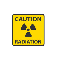 Radiation icon warning radioactive sign danger vector