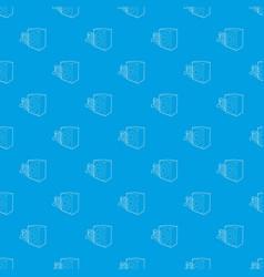 radio pattern seamless blue vector image