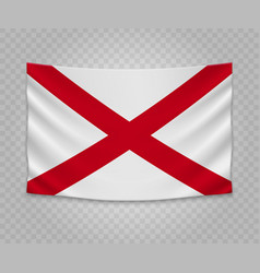 realistic hanging flag vector image