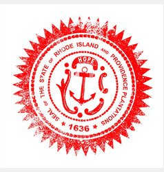 rhode island rubber stamp vector image