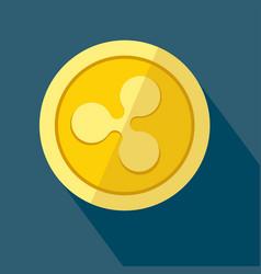 ripple icon as golden coin vector image