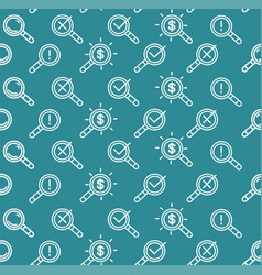 search signs pattern background on a blue vector image