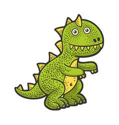 Soft toy dinosaur sketch vector