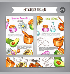spa club broshure hand drawn cosmetics and vector image