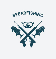spearfishing club concept design underwater vector image