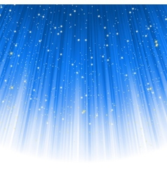 Stars descending on a path of blue light EPS 8 vector