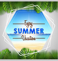 summer vacation with tropical beach vector image