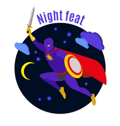 super hero night activity vector image