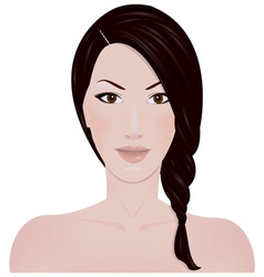 The girls face vector image