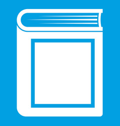 thick book icon white vector image