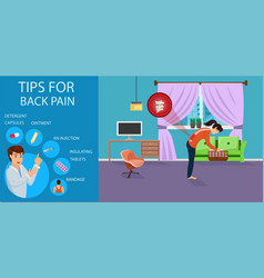 tips for back pain for women vector image