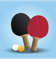 two rackets design for playing table tennis on vector image