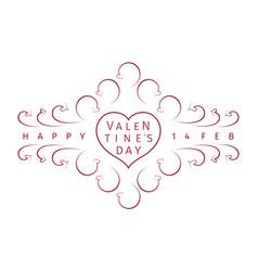 vintage valentines day emblem vector image
