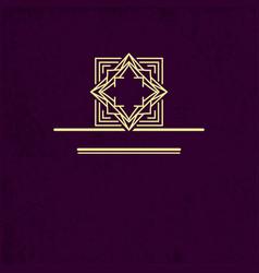 Vip logo design geometric linear monogram vector