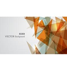 Warm tones geometric transparency vector image