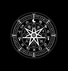 wiccan symbol protection set mandala witche vector image