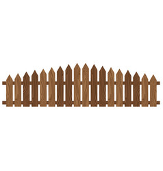 Wooden fence isolated on white background vector