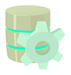Working database icon cartoon style vector