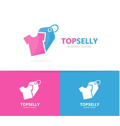 Cloth and tag logo combination shirt vector