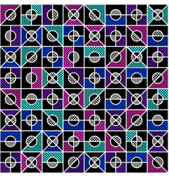geometric seamless pattern in style of the 80s vector image vector image