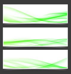 green fresh spring web header footer templates vector image vector image