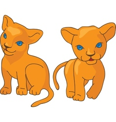 Leo kids vector image