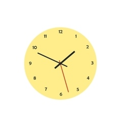 Round analog clock face icon in flat style vector image vector image