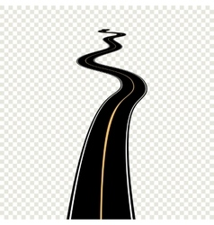 Curved winding road with white markings vector image vector image