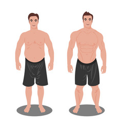 man before and after sports vector image vector image