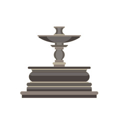 vintage flat icon tiered fountain isolated on vector image vector image
