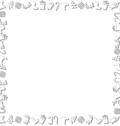 White Chrismtas Elements Border vector image vector image