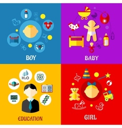 Childhood concept in flat design vector image vector image