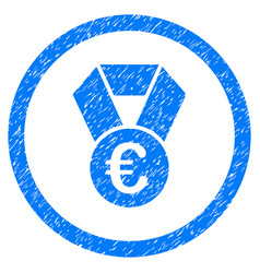 euro champion medal rounded icon rubber stamp vector image vector image