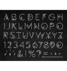 Font Flat chalk vector image