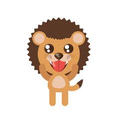 Kawaii lion animal toy vector