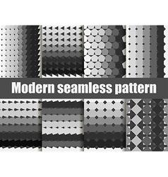 Modern seamless pattern set vector image vector image