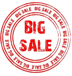 Red stamp for big sale vector image
