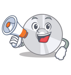 with megaphone cd character cartoon style vector image vector image