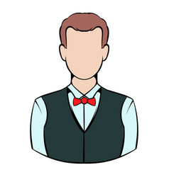 croupier icon icon cartoon vector image