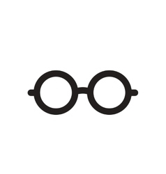 Flat icon in black and white eyeglasses vector