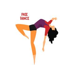girl dancing free dance on a vector image