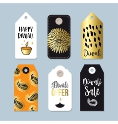 Happy diwali special offer sale labels tags vector