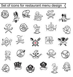 restaurant menu design set vector image vector image