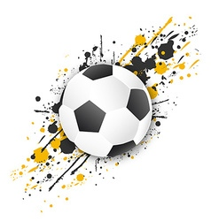 Soccer ball football ball with grunge effect vector image